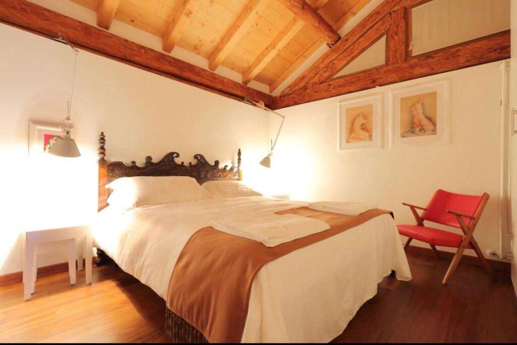 Chalet nelle Dolomiti camera da letto