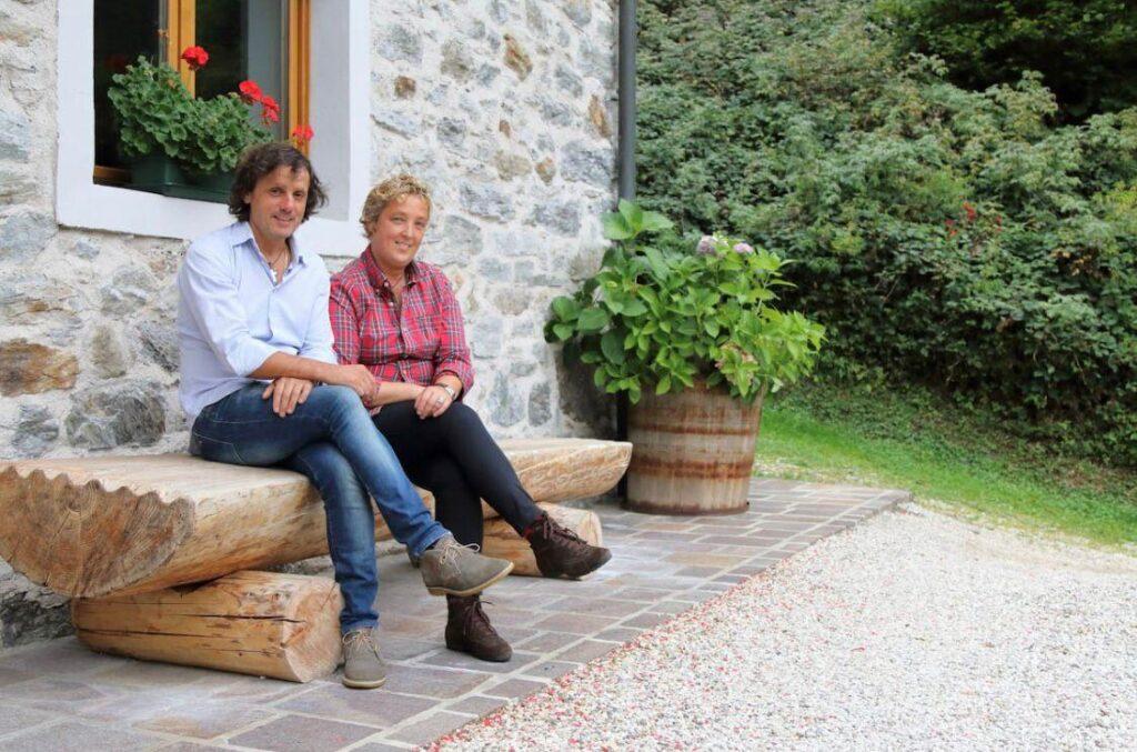 Roberta e Massimo, proprietari del Chalet nelle Dolomiti