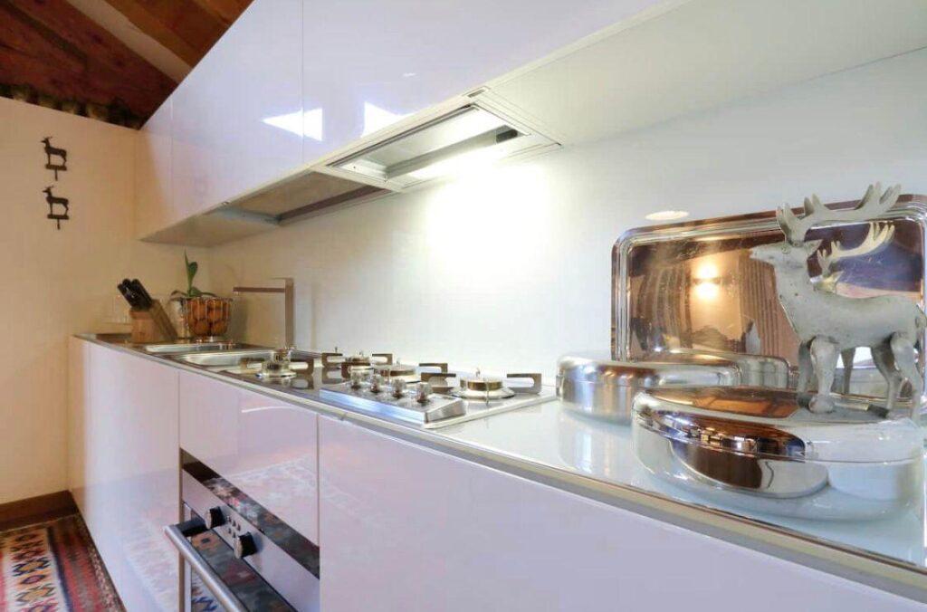 Chalet nelle dolomiti cucina