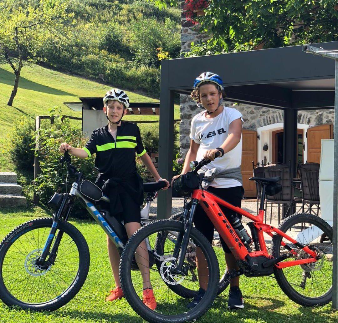 Gli ospiti di chalet nelle Dolomiti su Mountainbike