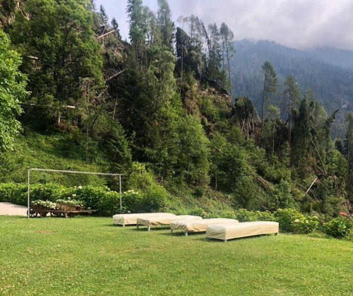 Zona relax Chalet nelle Dolomiti